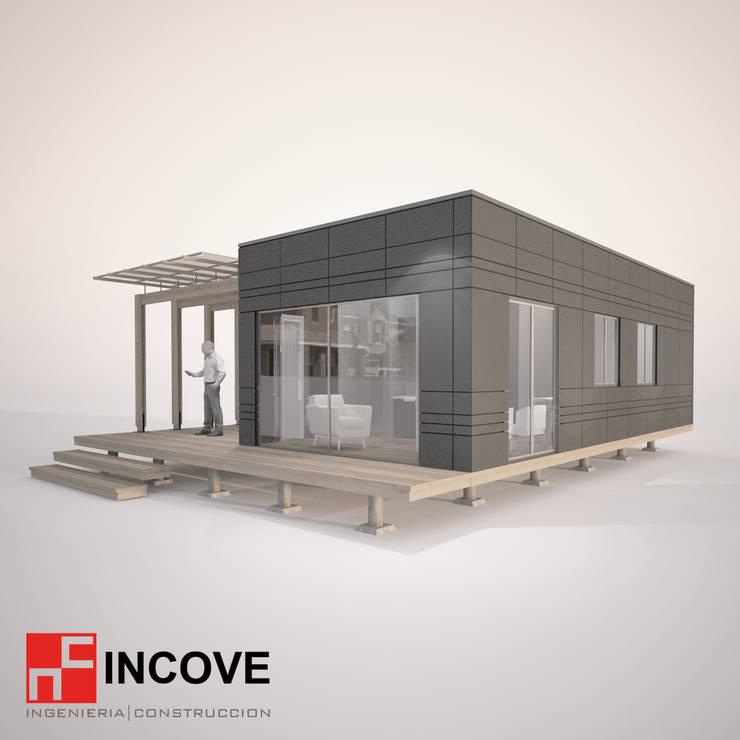 Vista lateral:  de estilo  por Incove - Casas de madera minimalistas