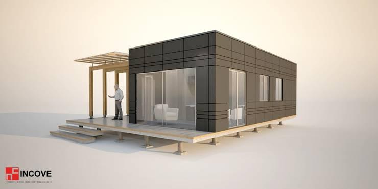 Lateral:  de estilo  por Incove - Casas de madera minimalistas