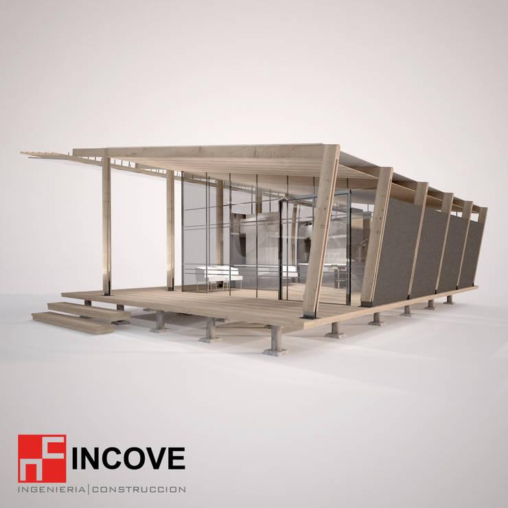 vista posterior:  de estilo  por Incove Ingeniería y Construcción