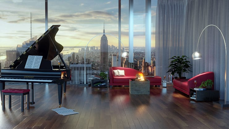 Living in New York di Modellazione-3d.it | homify
