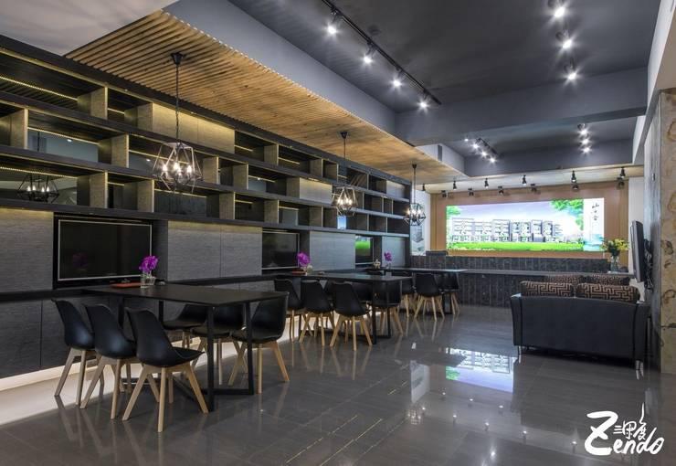 ห้องทำงาน/อ่านหนังสือ โดย Zendo 深度空間設計, โมเดิร์น