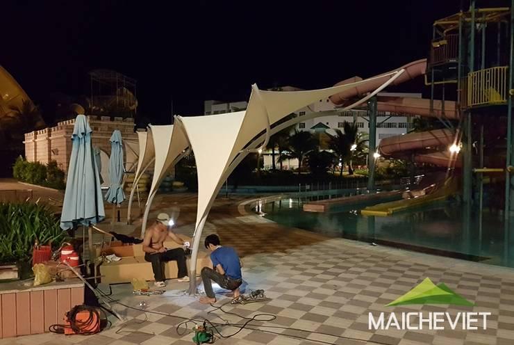 Thiết kế và thi công mái che tại Vinpearl Land Phú Quốc:   by Công ty TNHH Havico Việt Nam