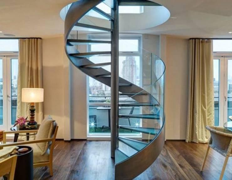Học hỏi cách thiết kế cầu thang xoắn ốc an toàn và đẹp mắt:   by Kiến Trúc Xây Dựng Incocons