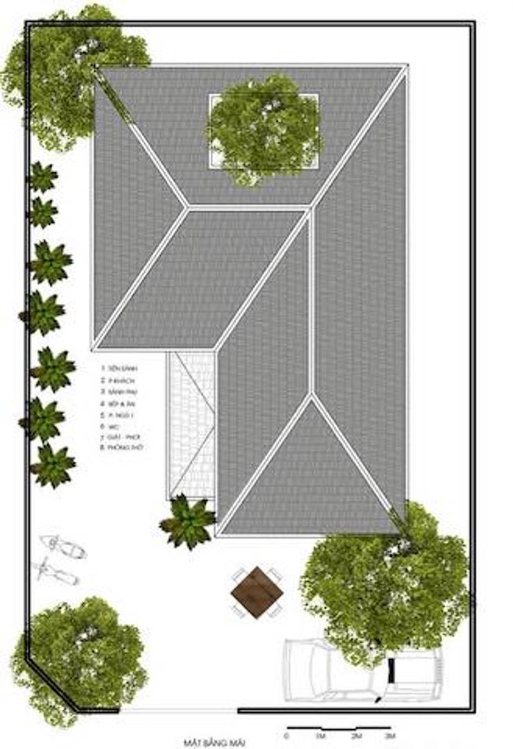 Thi công trọn gói biệt thự 2 tầng mái thái đẹp:   by Xây nhà trọn gói