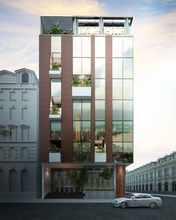 KHÁCH SẠN 7 TẦNG – 193 VĂN CAO – HẢI PHÒNG:   by công ty cổ phần Thiết kế Kiến trúc Việt Xanh