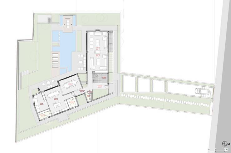 Planta Baja: Casas unifamilares de estilo  de ARQZONE 3D+Design Studio
