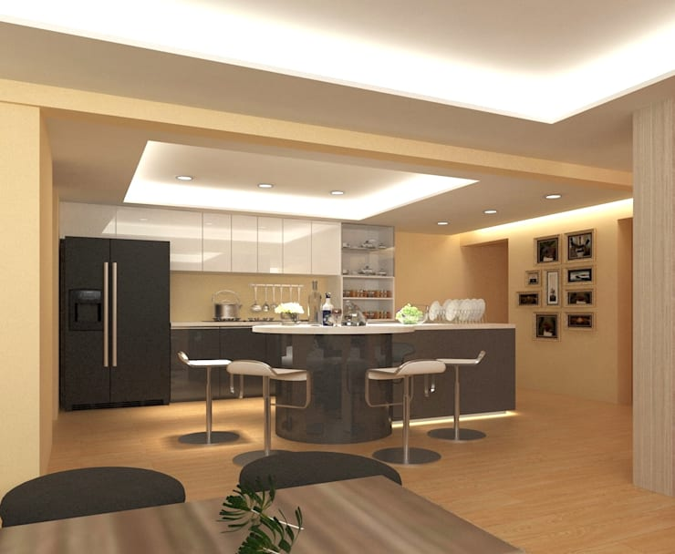 Küchenzeile von 麥斯迪設計, Klassisch Holz-Kunststoff-Verbund