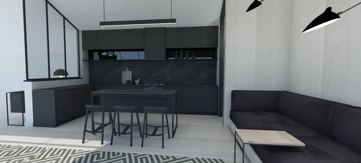 Kitchen:  Kitchen units by Lijn Ontwerp,