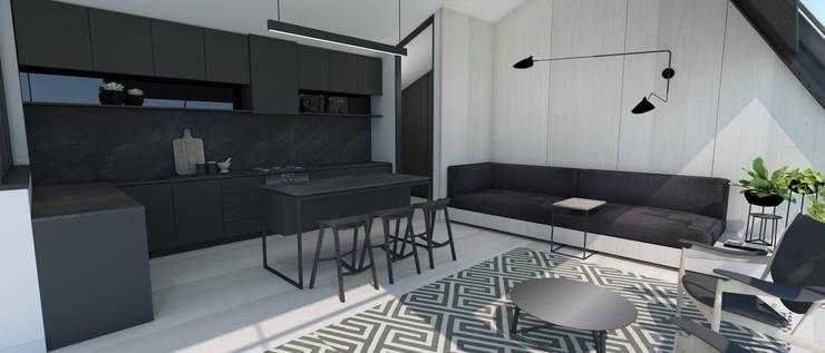 Kitchen & Dining:  Kitchen units by Lijn Ontwerp,