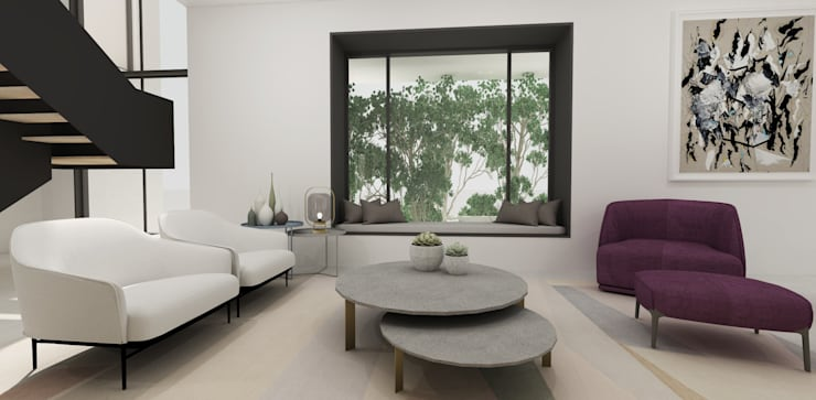 Library Lounge:  Living room by Lijn Ontwerp