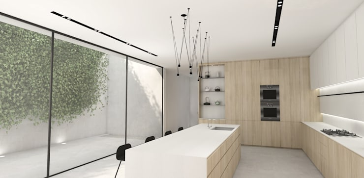 Kitchen:  Built-in kitchens by Lijn Ontwerp