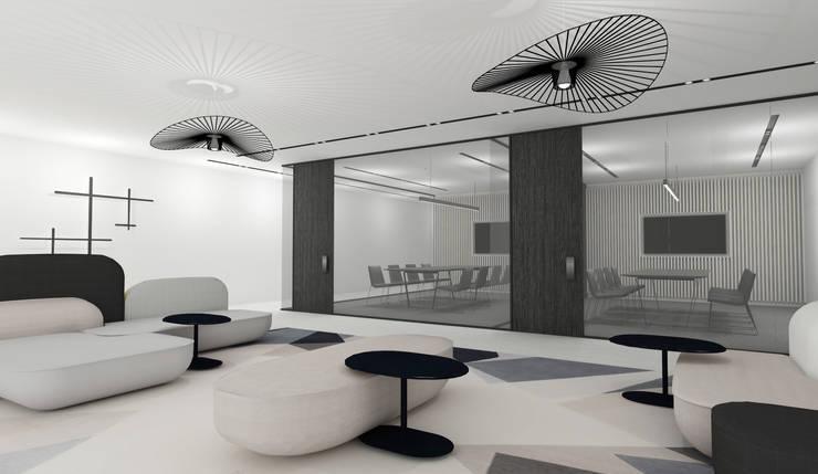 Corporate Interior:  Study/office by Lijn Ontwerp, Modern Glass