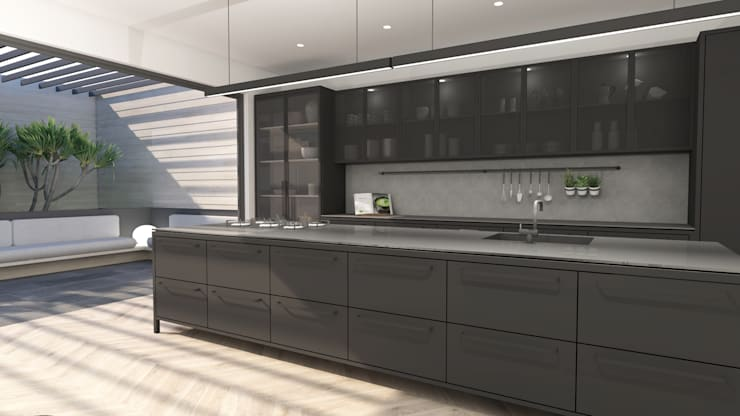 Kitchen:  Built-in kitchens by Lijn Ontwerp