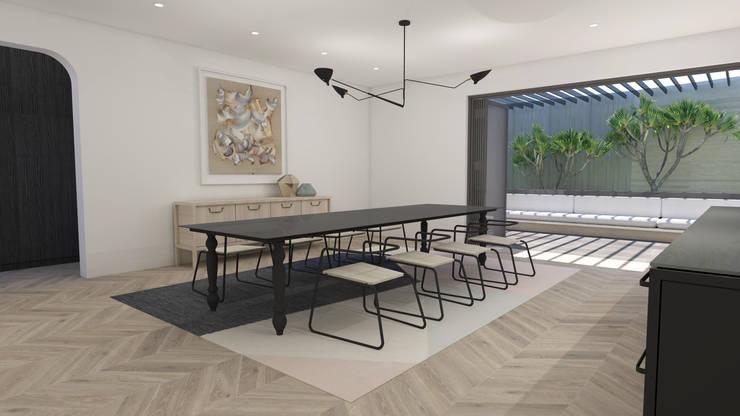Dining Area:  Built-in kitchens by Lijn Ontwerp