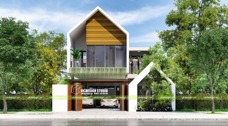 Biệt thự hiện đại 2 tầng:  Biệt thự by UK DESIGN STUDIO - KIẾN TRÚC UK