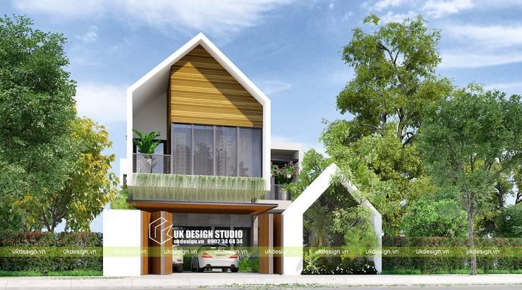 Biệt thự hiện đại 2 tầng:  Nhà by UK DESIGN STUDIO - KIẾN TRÚC UK