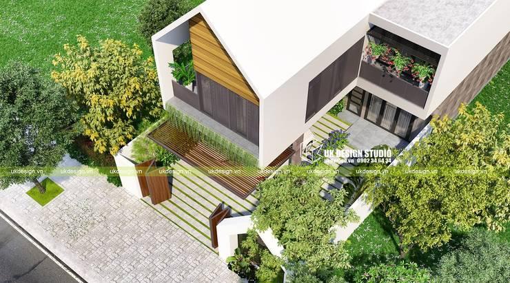 Biệt thự sân vườn 2 tầng:  Biệt thự by UK DESIGN STUDIO - KIẾN TRÚC UK