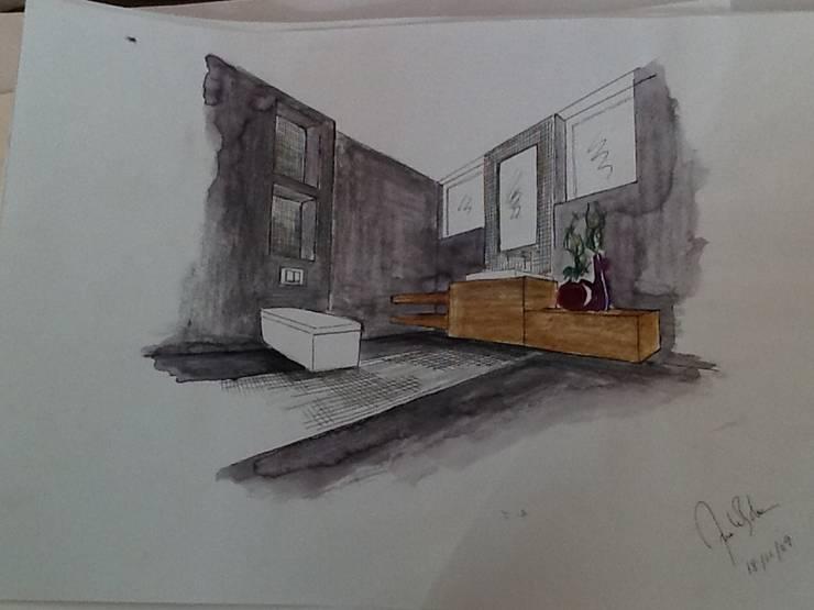 Sketch Moradia Algarve 2013 (I,S) por Atelier Ana Leonor Rocha