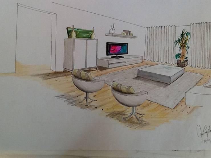Apartamento Lisboa Av. da Liberdade-Sketch 2013 por Atelier Ana Leonor Rocha