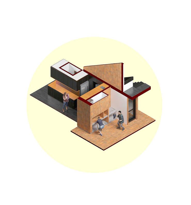 Vivienda AyP: Muebles de cocinas de estilo  por Vozza Arquitectura
