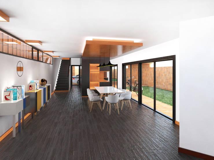 Vivienda AyP: Comedores de estilo  por Vozza Arquitectura