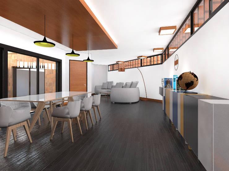 Vivienda AyP: Livings de estilo  por Vozza Arquitectura