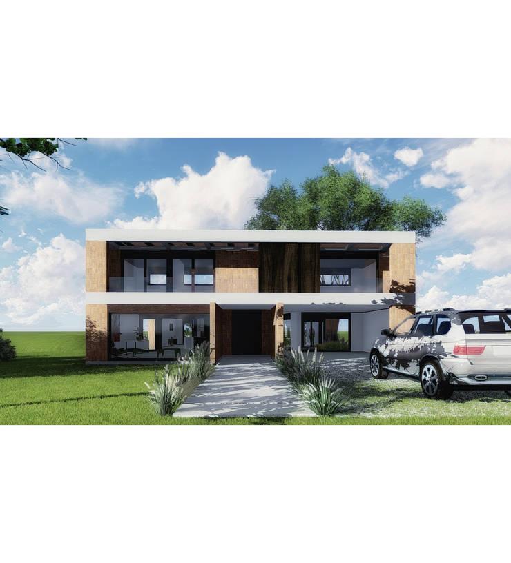 Vivienda LC: Casas unifamiliares de estilo  por Vozza Arquitectura,