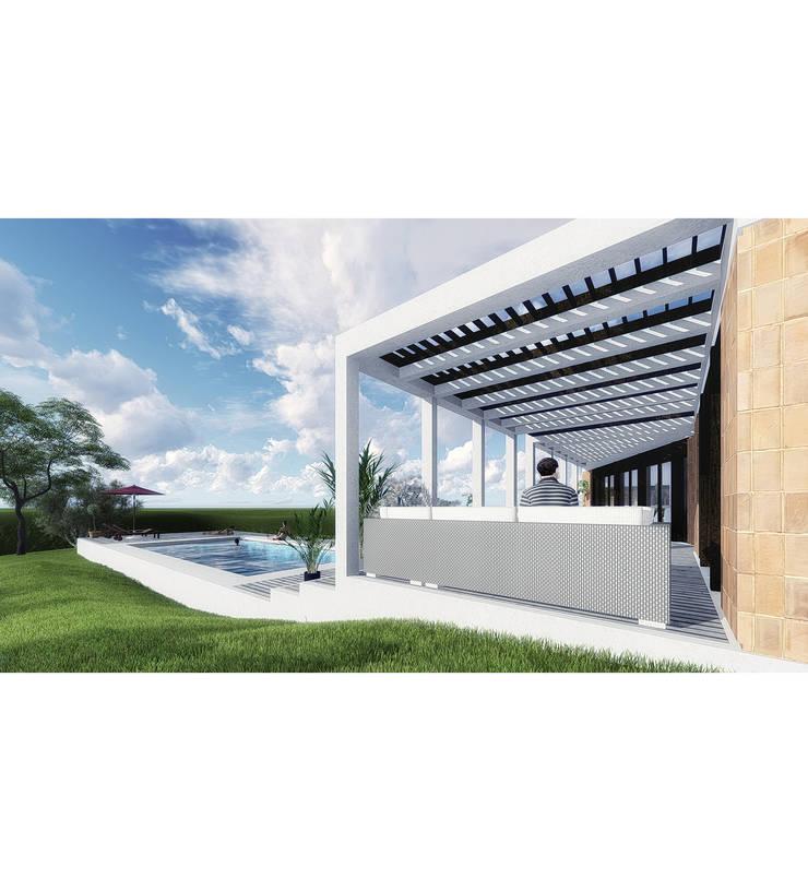 Vivienda LC: Piletas de jardín de estilo  por Vozza Arquitectura,