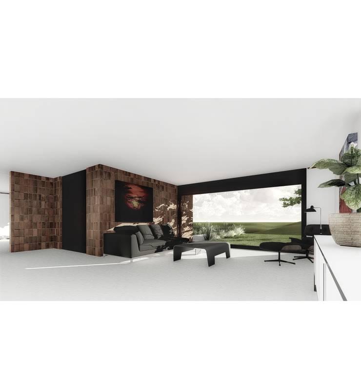 Vivienda LC: Livings de estilo  por Vozza Arquitectura,