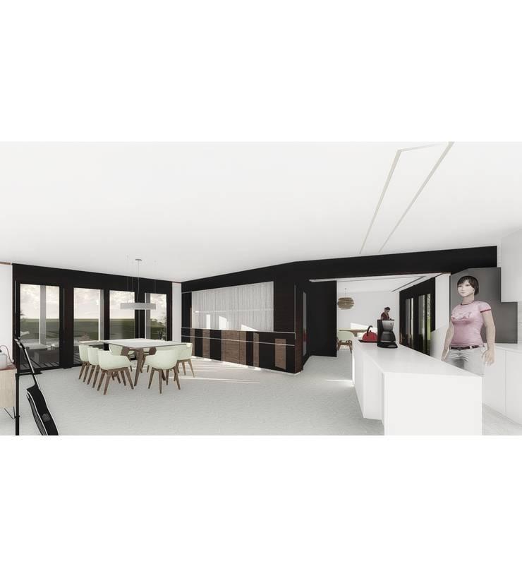 Vivienda LC: Comedores de estilo  por Vozza Arquitectura,