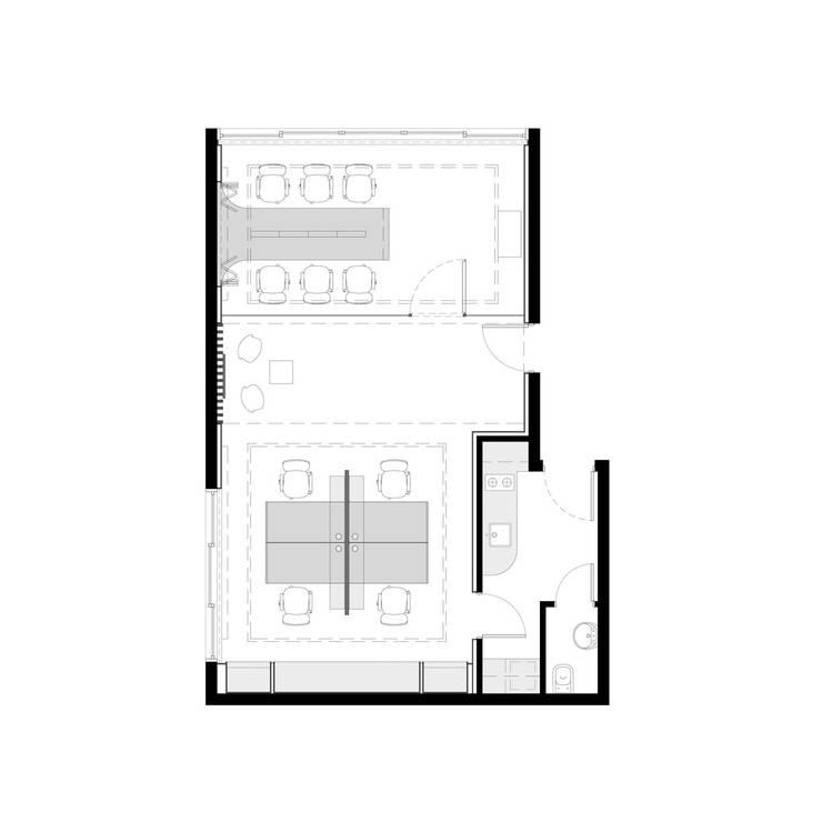 Oficinas IKOP:  de estilo  por Vozza Arquitectura
