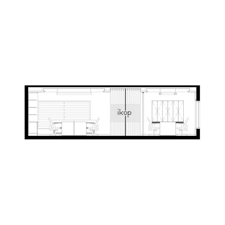 Oficinas IKOP:  de estilo  por Vozza Arquitectura,Moderno