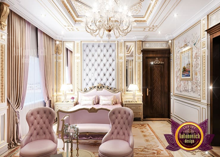 Fine Exquisite Bedroom Interior:   by Luxury Antonovich Design