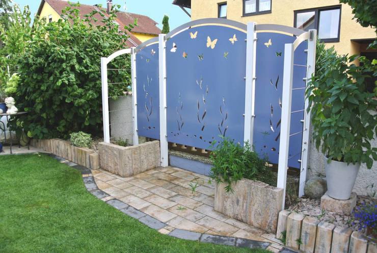 Edelstahldesign Vorher – Nachher:   von Edelstahl Atelier Crouse - individuelle Gartentore