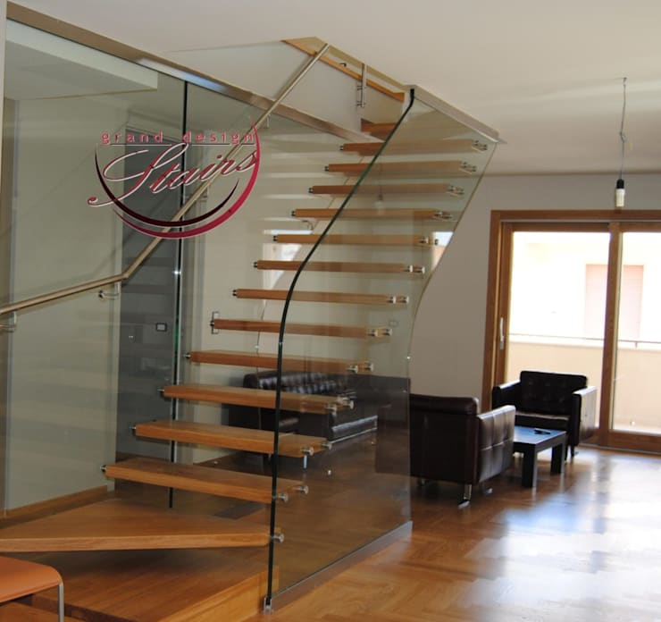 Cantilever Staircase with Glass balustrade by Grand Design