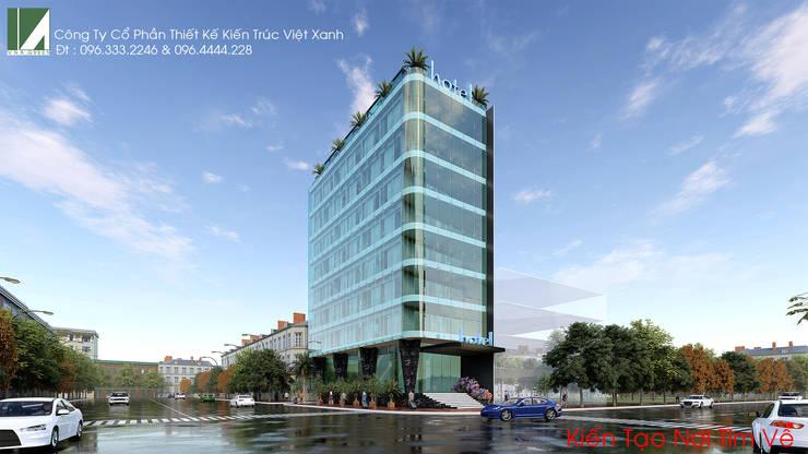 KHÁCH SẠN HIỆN ĐẠI - 8 TẦNG - HỒ SEN - LÊ CHÂN - HẢI PHÒNG.:   by công ty cổ phần Thiết kế Kiến trúc Việt Xanh