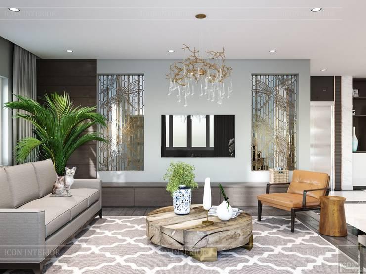 Thiết kế nội thất biệt thự hiện đại – Sang trọng đẳng cấp:  Phòng khách by ICON INTERIOR