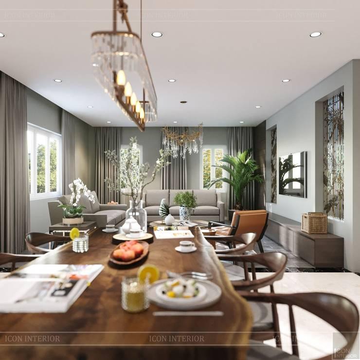 Thiết kế nội thất biệt thự hiện đại – Sang trọng đẳng cấp:  Phòng ăn by ICON INTERIOR