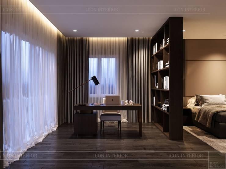 Thiết kế nội thất biệt thự hiện đại – Sang trọng đẳng cấp:  Phòng học/Văn phòng by ICON INTERIOR
