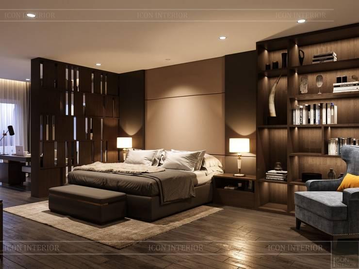 Thiết kế nội thất biệt thự hiện đại – Sang trọng đẳng cấp:  Phòng ngủ by ICON INTERIOR