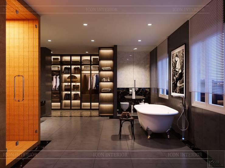Thiết kế nội thất biệt thự hiện đại – Sang trọng đẳng cấp:  Phòng tắm by ICON INTERIOR