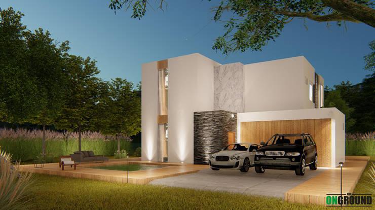 LESS IS MORE:  บ้านเดี่ยว by The OnGround บริษัทรับสร้างบ้านสไตล์ Modern Japanese