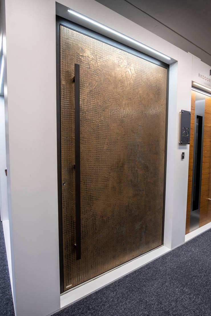 RK BRONZE TEXTURED FINISH PIVOT DOORSET :  Doors by RK Door Systems,