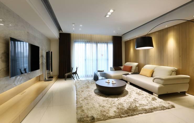 Phòng khách phong cách Bắc Âu bởi 雅群空間設計 Bắc Âu