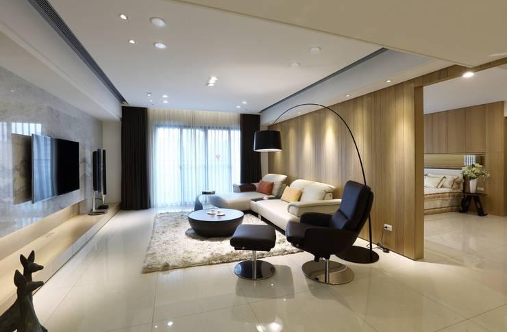Living room by 雅群空間設計, Scandinavian