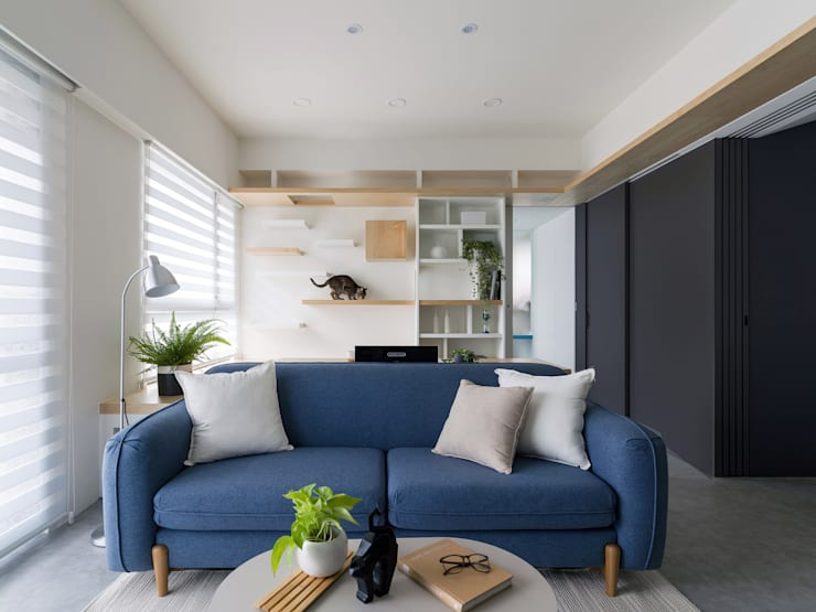 Liho你好:  客廳 by 寓子設計, 北歐風