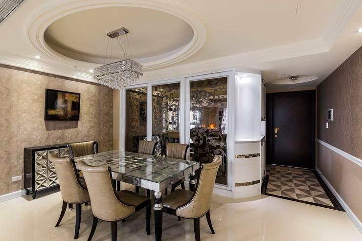 圖騰玻璃:  餐廳 by 鼎士達室內裝修企劃