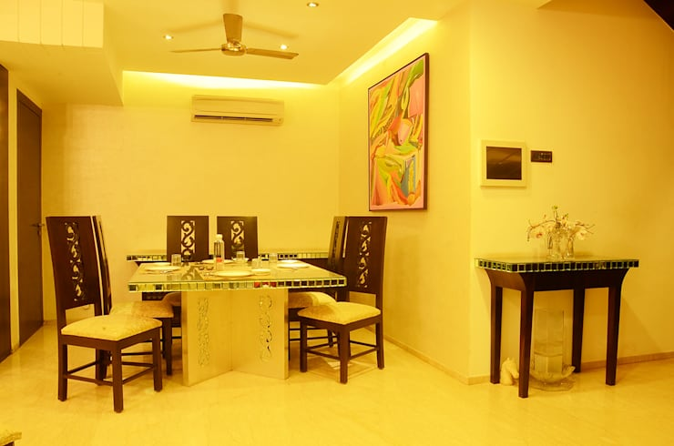 IMPERIAL TOWER, TARDEO, MUMBAI:  Dining room by Aesthos Interior Design and Consultancy