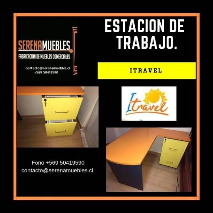 Estacion de trabajo : Oficinas y tiendas de estilo  por SerenaMuebles