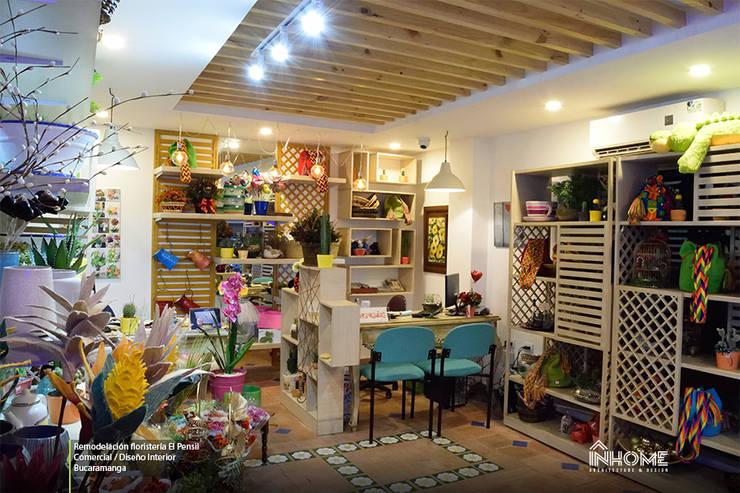 REMODELACIÓN FLORISTERÍA EL PENSIL: Oficinas y Tiendas de estilo  por INHOME Architecture & Design